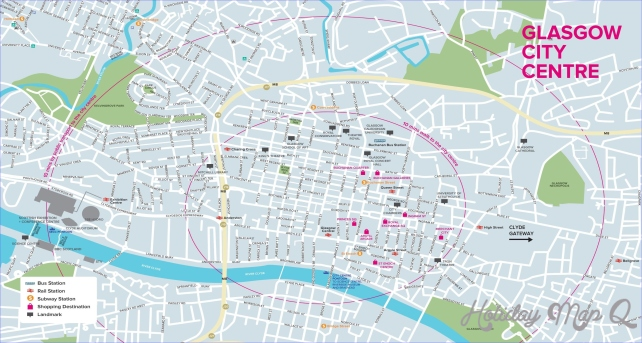 Glasgow west end map - Map of west end Glasgow