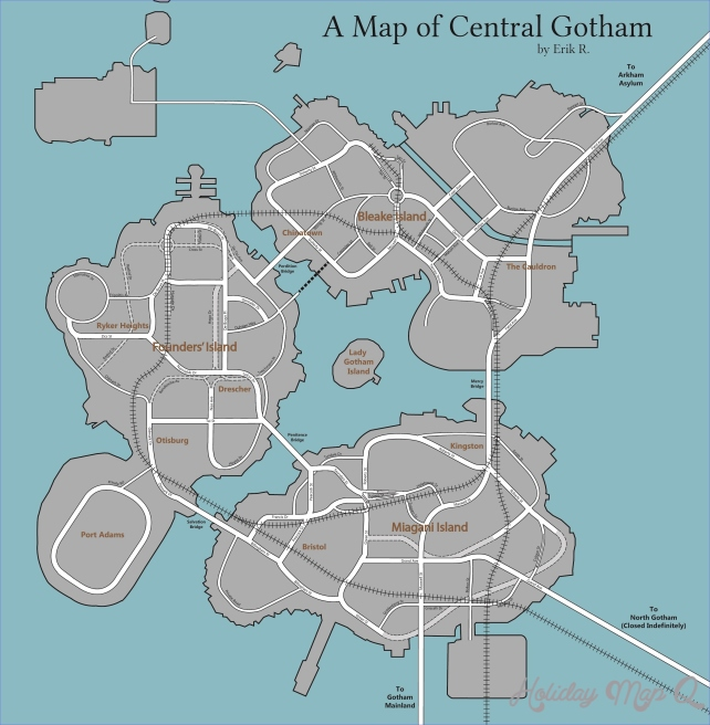 I made a street map of Gotham City from Arkham Knight (OC)