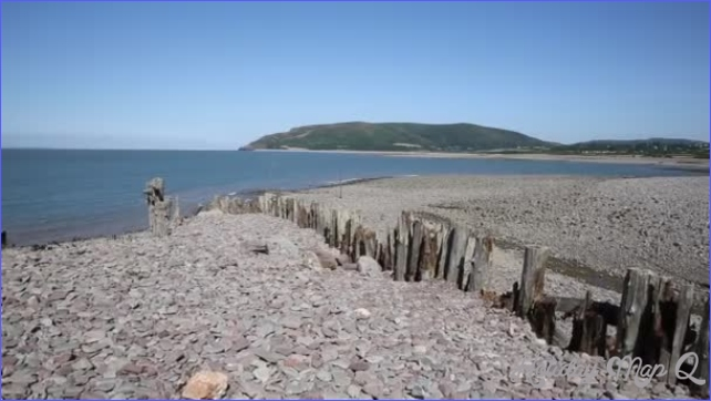 Porlock Weir beach Somerset on the Exmoor Heritage coast England UK