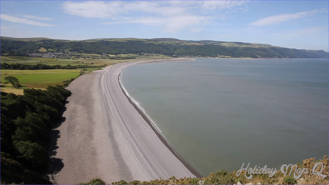 Porlock beach Somerset England UK near Exmoor and west of Minehead