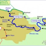 The Coleridge Way Map for walkers Exmoor National Park UK