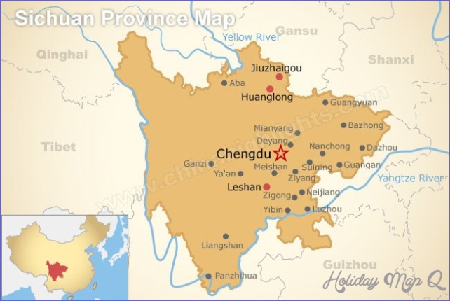 Maps of sichuan and travel information   Download free Maps of sichuan