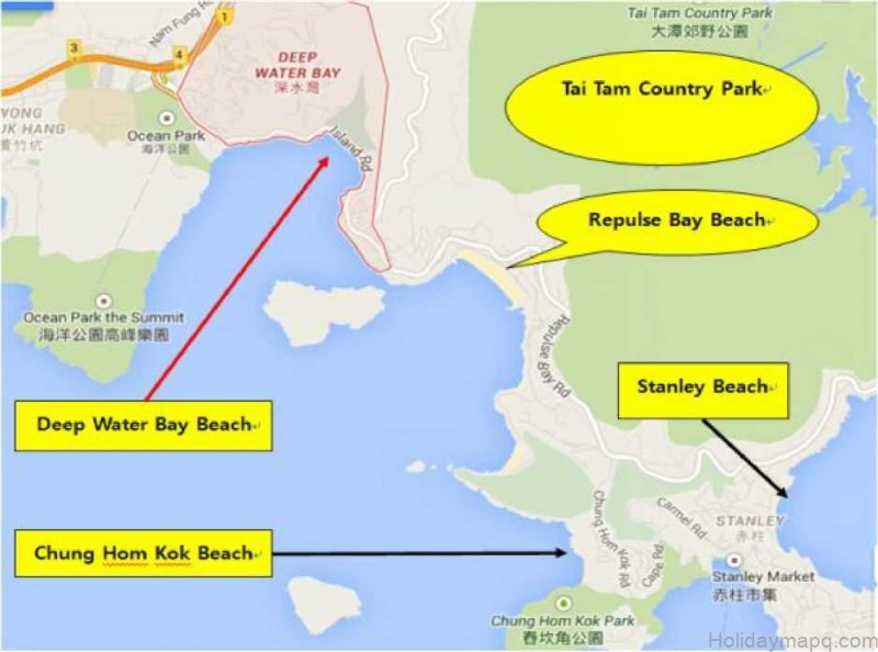 map of deep water bay beach hong kong 17