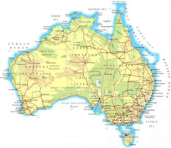 a detailed map of australia 8 A Detailed Map Of Australia