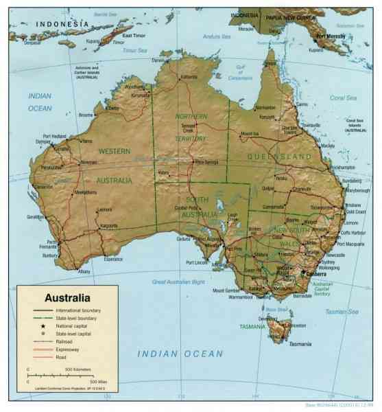 a detailed map of australia 102 A Detailed Map Of Australia