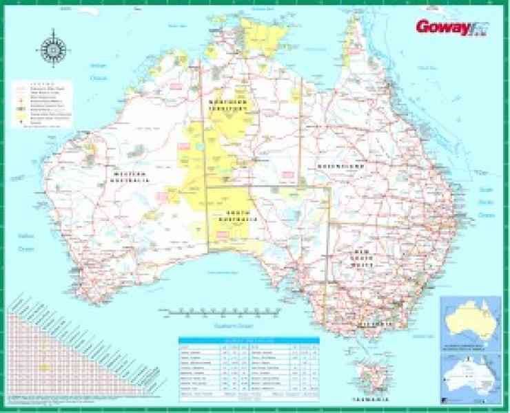 a detailed map of australia 571 A Detailed Map Of Australia