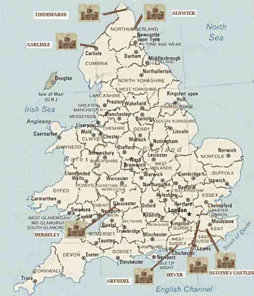 a detailed map of england 171 A Detailed Map Of England