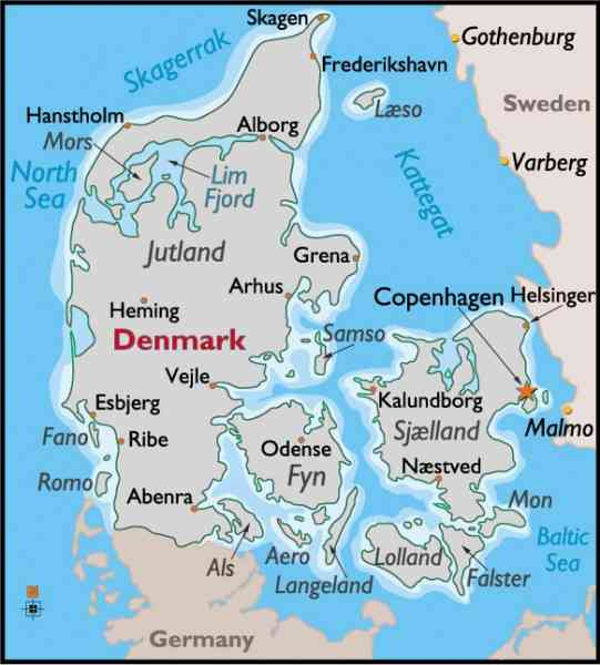 a map of denmark 4 A Map Of Denmark