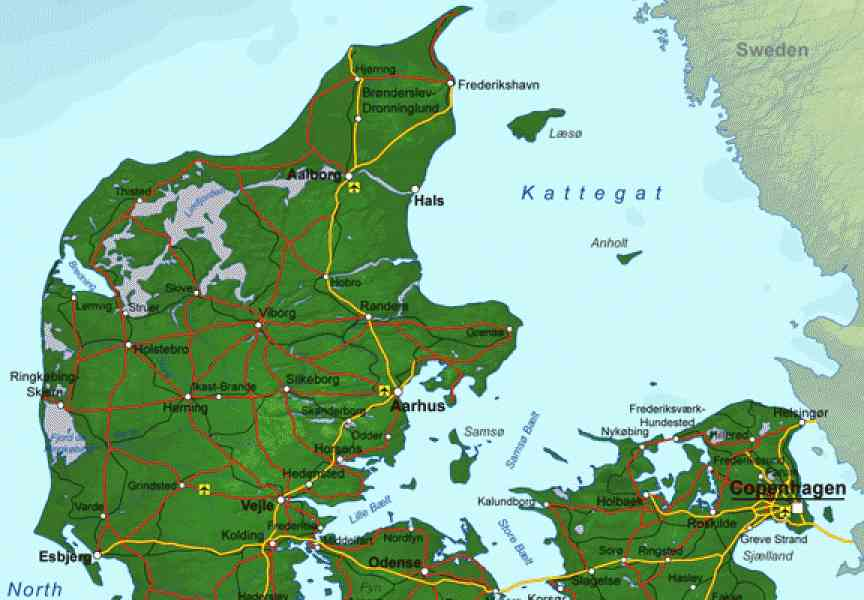 a map of denmark 244 A Map Of Denmark