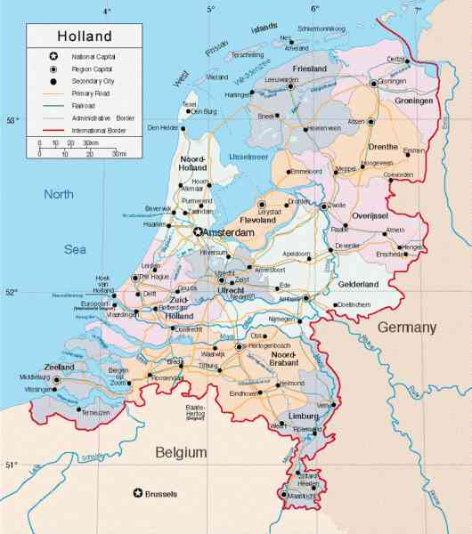 a map of holland 350 A Map Of Holland