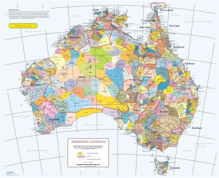 aboriginal language map 295 Aboriginal Language Map