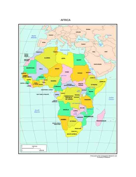 africa map labeled 416 Africa Map Labeled