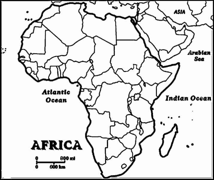 africa map labeled 707 Africa Map Labeled