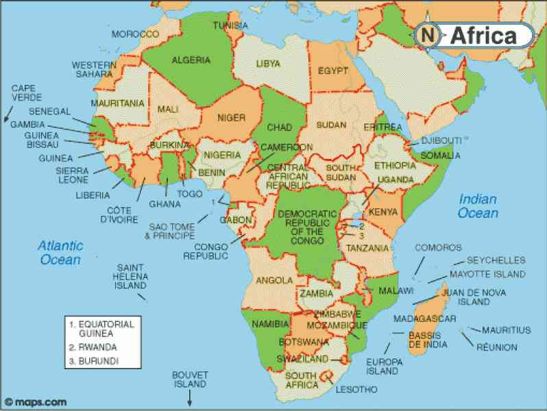 africa resources map 202 Africa Resources Map