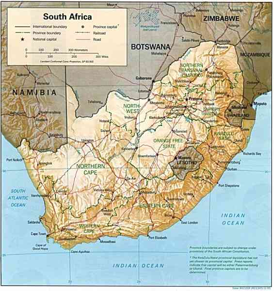 africa south map 297 Africa South Map