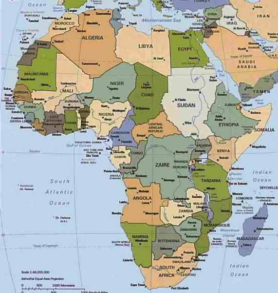 africa south map 111 Africa South Map