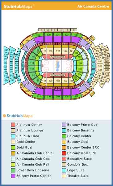 air canada center seating map. Black Bedroom Furniture Sets. Home Design Ideas