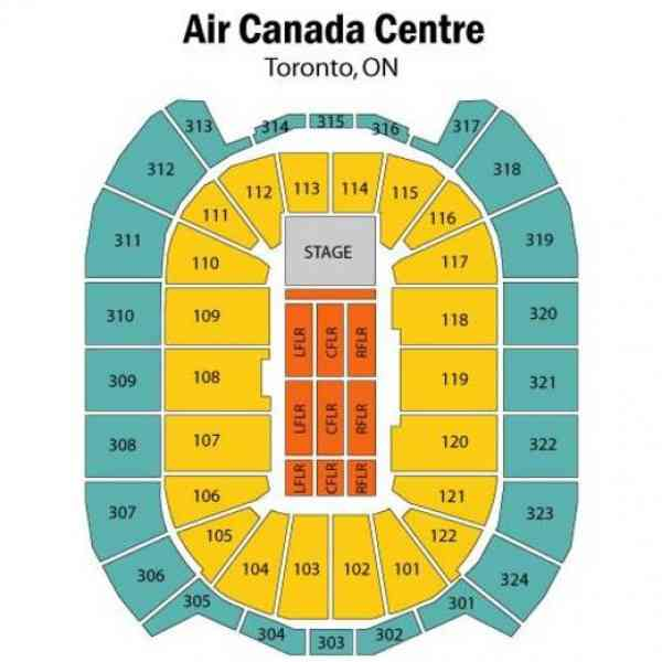 air canada centre map 7 Air Canada Centre Map