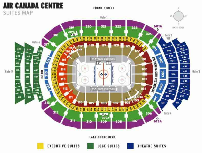 air canada centre map 48 Air Canada Centre Map