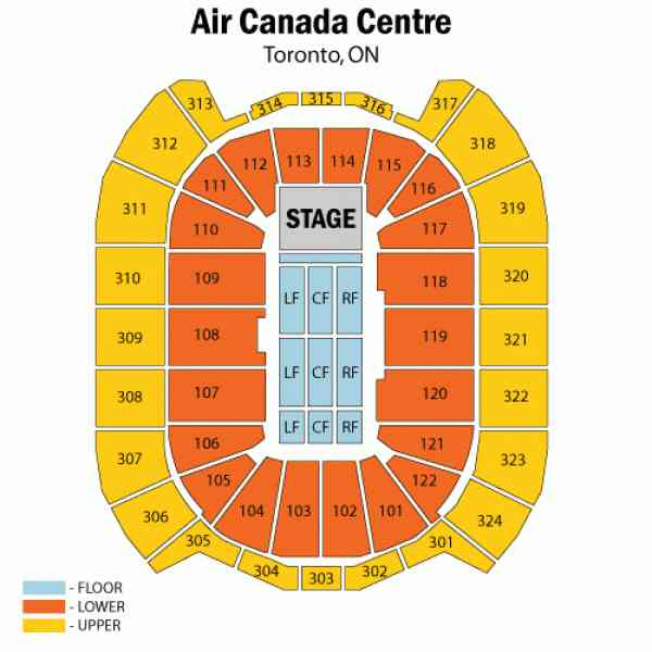 air canada centre map 236 Air Canada Centre Map