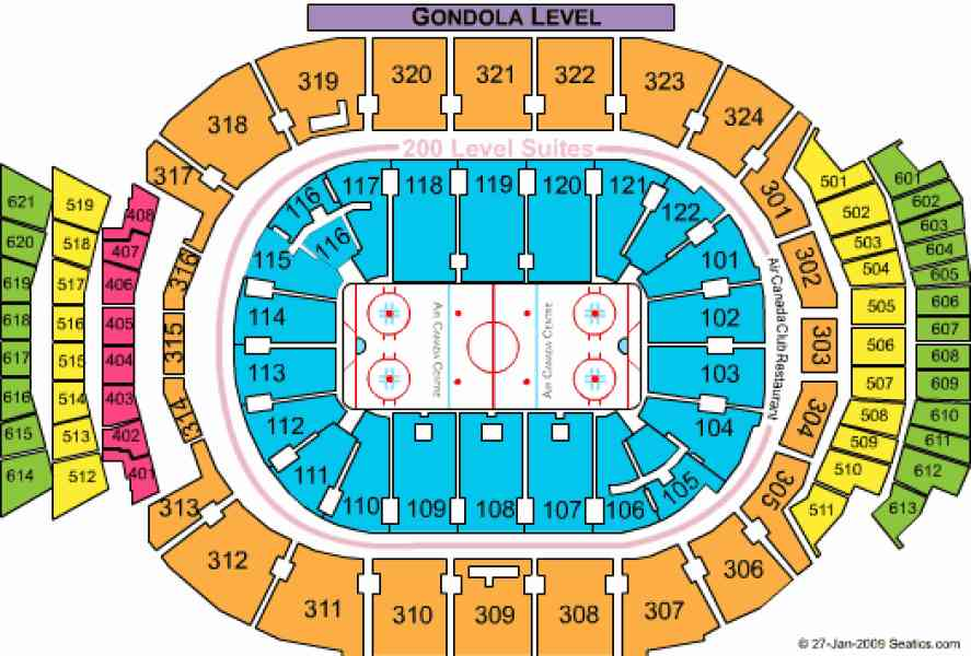 air canada centre map 581 Air Canada Centre Map