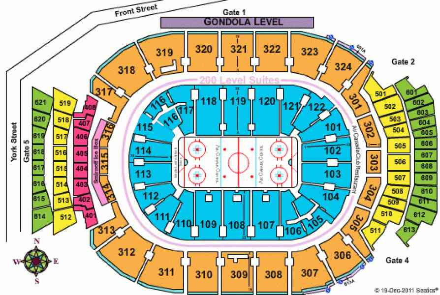 air canada centre seating map 270 Air Canada Centre Seating Map