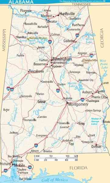 alabama state map 125 Alabama State Map
