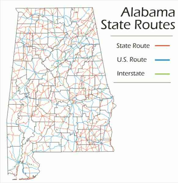 alabama state map 93 Alabama State Map