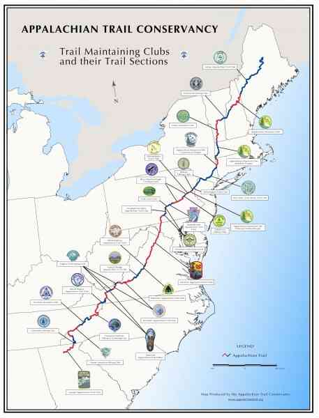 appalachian trail map 6 Appalachian Trail Map