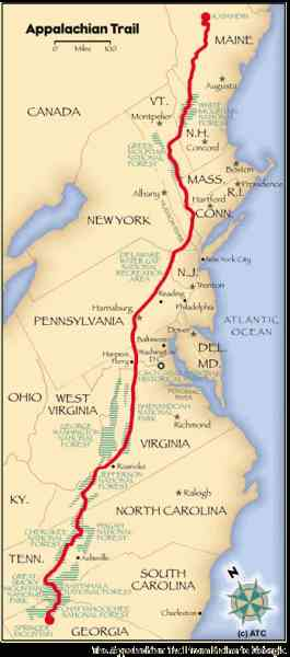 appalachian trail map 369 Appalachian Trail Map