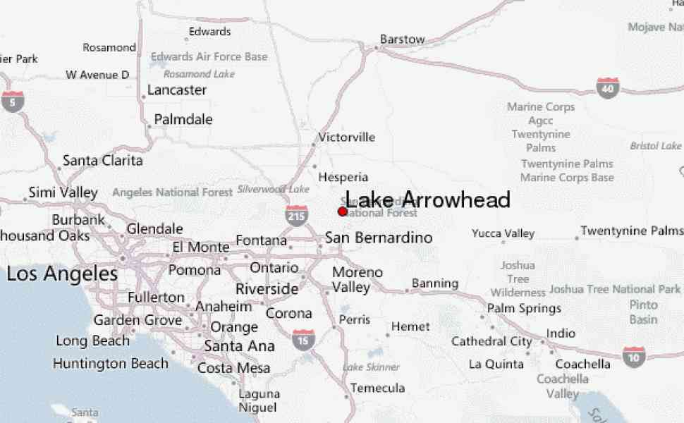 arrowhead lake map 101 Arrowhead Lake Map
