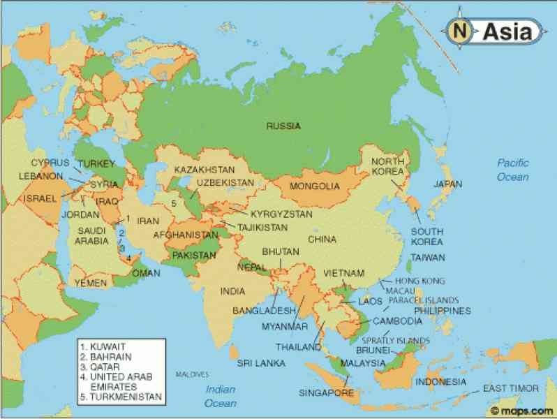 asia map countries and capitals 93 Asia Map Countries And Capitals
