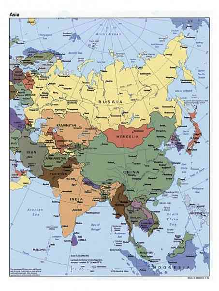 asia map countries and capitals 243 Asia Map Countries And Capitals