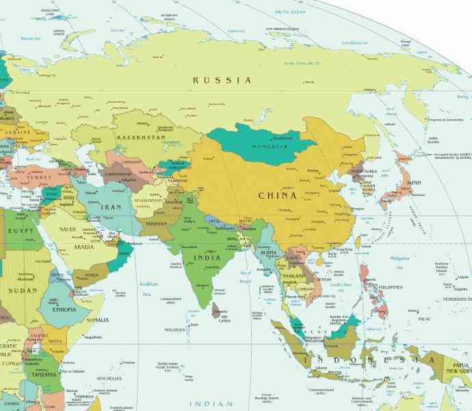 asia map countries and capitals 39 Asia Map Countries And Capitals