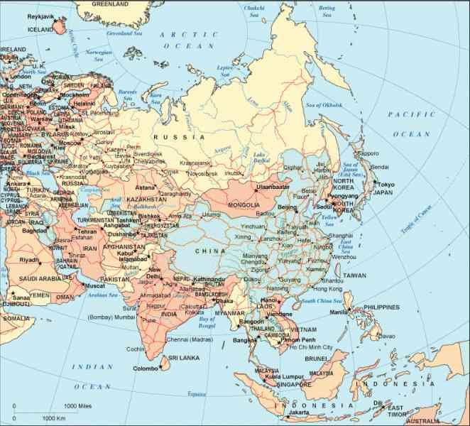 Asia Map Quiz Map Holiday Travel