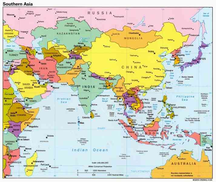 asia outline map 4 Asia Outline Map