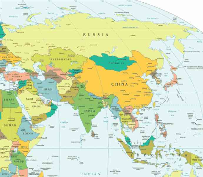 asia world map 8 Asia World Map