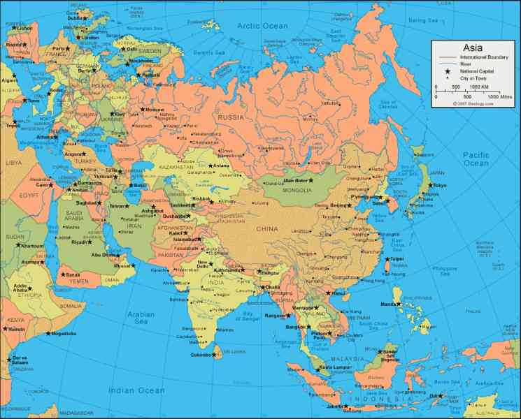 asia world map 149 Asia World Map