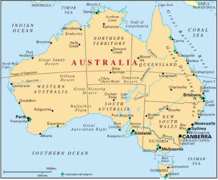 Australia Map Detailed Map Holiday Travel HolidayMapQcom - Western australia map detailed