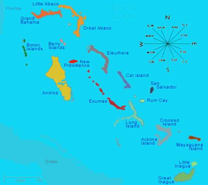 Bahamas World Map HolidayMapQcom