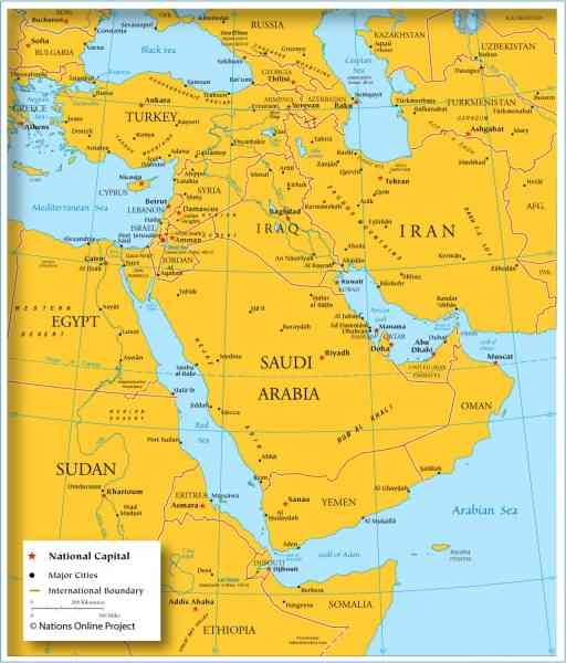 bahrain location map 2 Bahrain Location Map