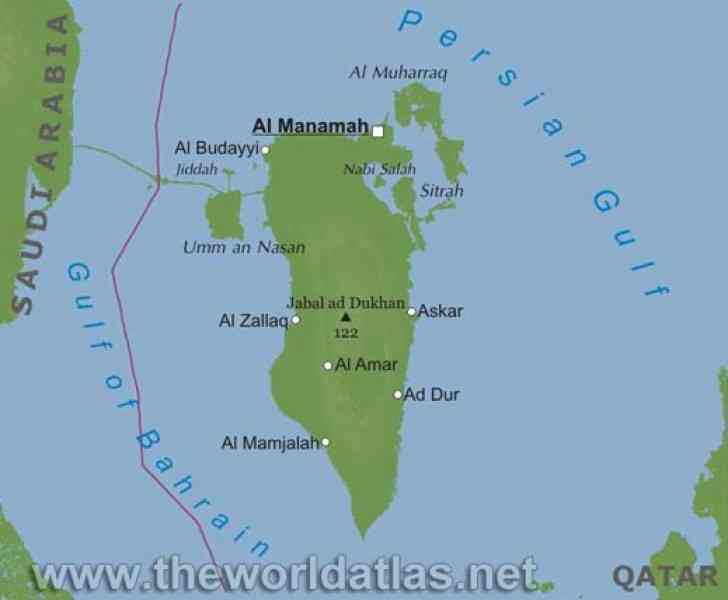 bahrain location map 45 Bahrain Location Map