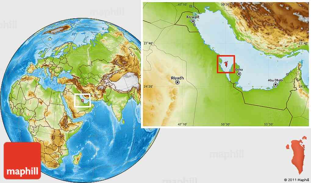 bahrain location map 465 Bahrain Location Map