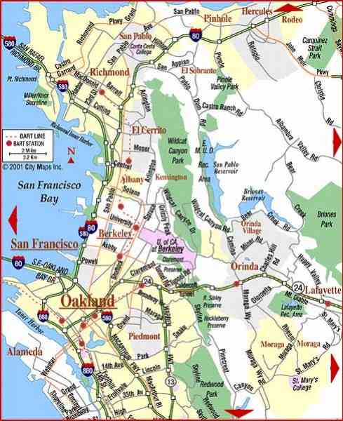 bay area map 7 Bay Area Map