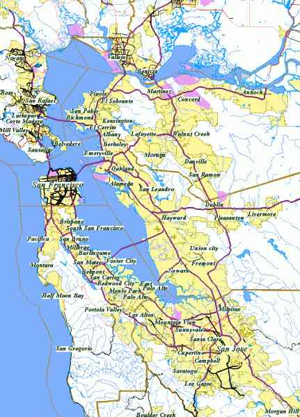bay area map 63 Bay Area Map