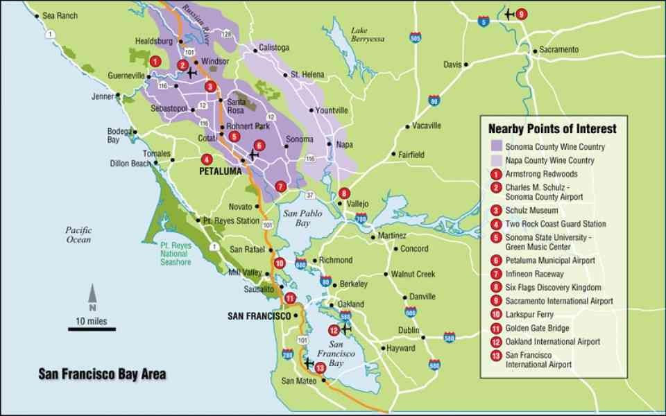 bay area map 246 Bay Area Map