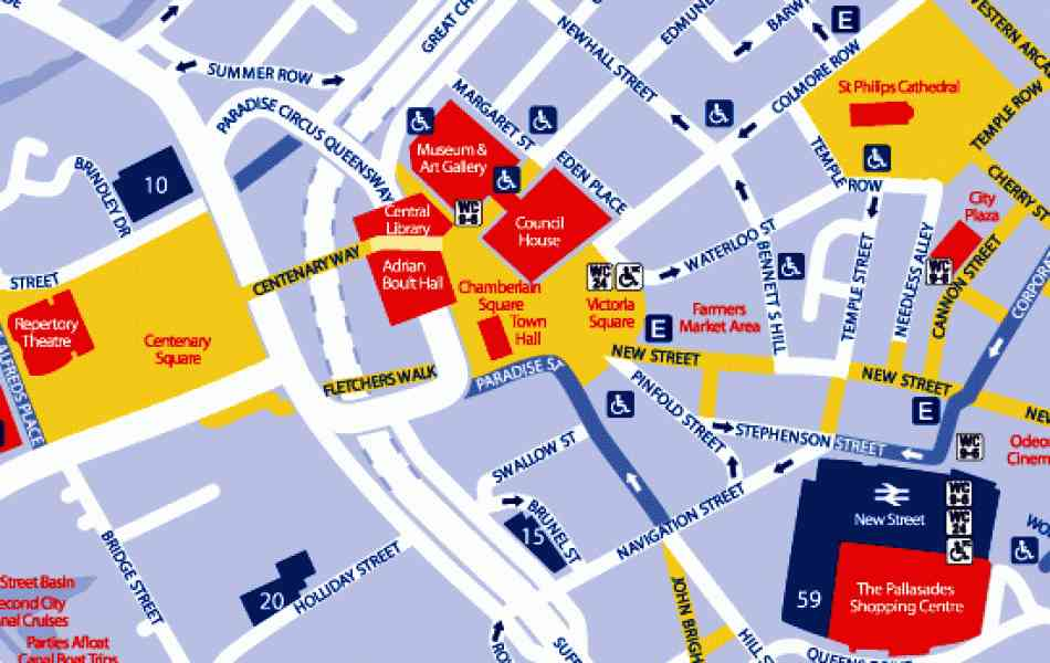Shopping Map Birmingham City Centre