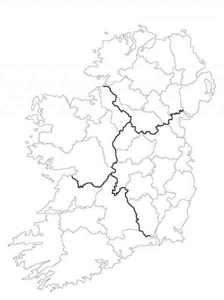 blank map of ireland 10 Blank Map Of Ireland