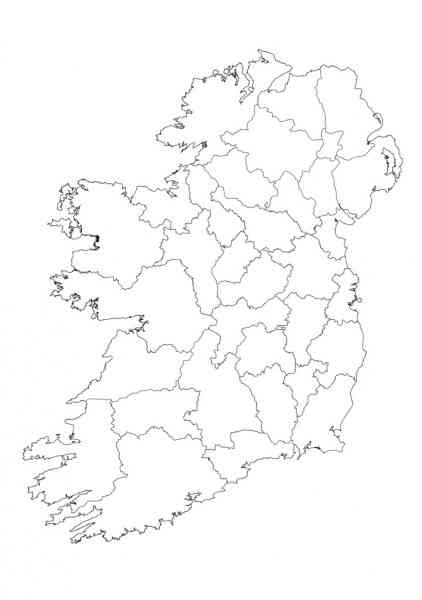 blank map of ireland 120 Blank Map Of Ireland