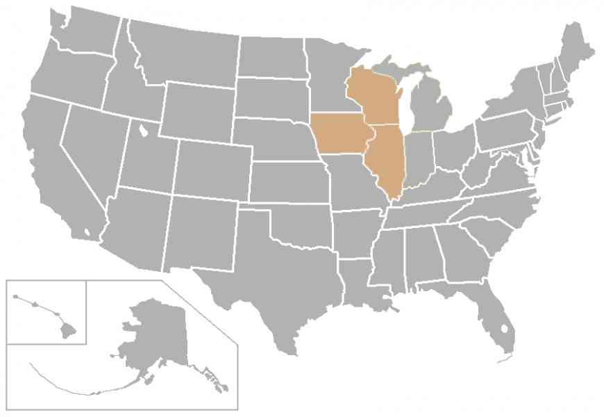 Blank Map Of Midwest Map Holiday Travel HolidayMapQcom - Blank map of midwest us